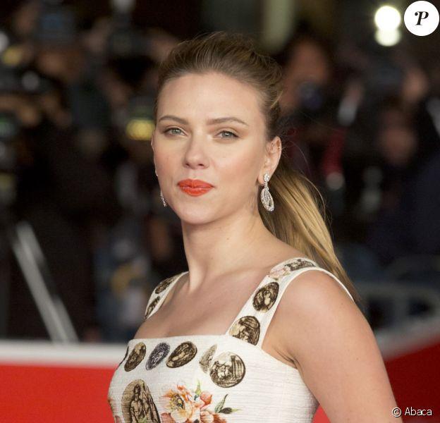 Scarlett Johansson lors de la présentation du film Her dans le cadre du Festival international du film de Rome le 10 novembre 2013