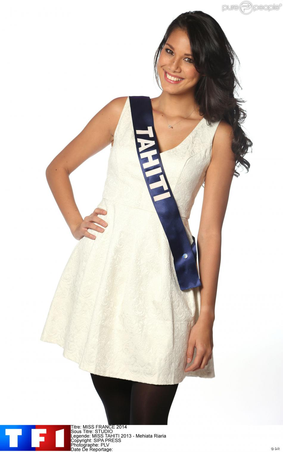 Mehiata Riaria, Miss Tahiti 2013, candidate pour Miss France 2014