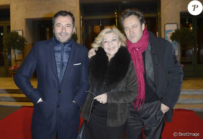 Bernard montiel nicoletta et son mari jean christophe lors du 21e gala de l 39 espoir au th tre - Bernard montiel son compagnon ...