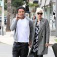 Gwen Stefani et Gavin Rossdale dans le quartier de Sherman Oaks à Los Angeles. Le 19 novembre 2013.