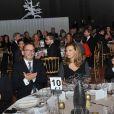 """ValérieTrierweiler lors du gala de charité """"Ne les oublions pas"""" au profit d'Action contre la faim, au Salon d'honneur du Grand Palais, à Paris, le 20 novembre 2013."""