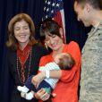 """""""Caroline Kennedy à Tokyo sur une base militaire américaine le 20 novembre 2013."""""""