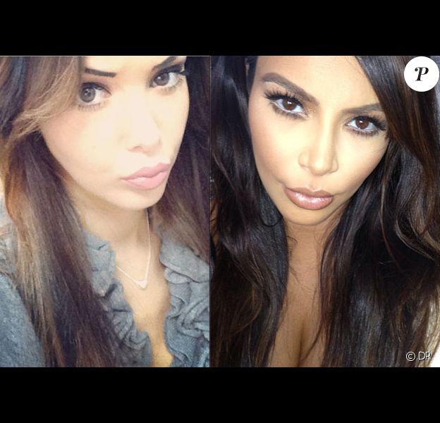 Combat de duck face entre Nabilla et Kim Kardashian sur Instagram