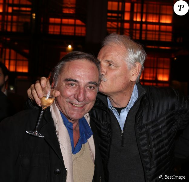Exclusif - Allain Bougrain-Dubourg et Yann Arthus-Bertrand assistentau 40e anniversaire du WWF au Museum national d'Histoire Naturelle à Paris le 27 novembre 2013.
