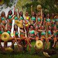 Les 33 Miss régionales se dévoilent en maillot de bain pour un shooting lors de leur séjour de préparation Miss France 2014 au Sri Lanka