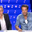 Laurent Ruquier et Nicolas Bedos dans On n'est pas couché sur France 2, le samedi 30 novembre 2013.