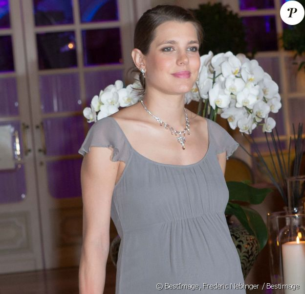 Charlotte Casiraghi enceinte, La Princesse Caroline de Hanovre au Diner de gala des 50 ans de l'association AMADE à Monaco le 4 octobre 2013