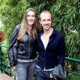 Marie Bastide et son compagnon Calogero à Roland Garros en juin 2012.