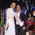 Exclusif - Adriana Karembeu (présentatrice) et Richard Virenque - Finale de l'élection de Top Model Belgium à Mons en Belgique le 8 décembre 2013.