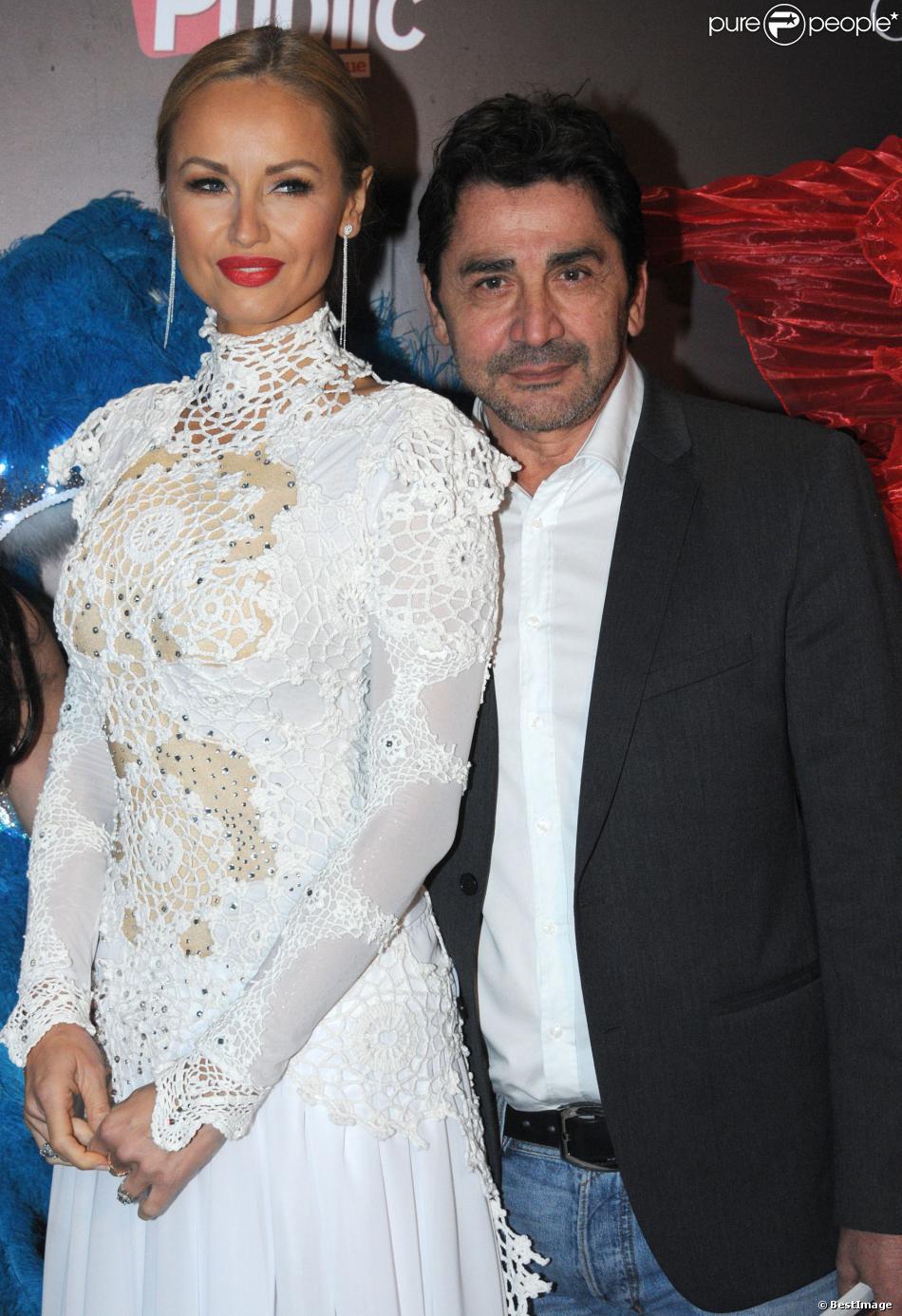 Exclusif - Adriana Karembeu et son compagnon André Ohanian - Finale de l'élection de Top Model Belgium à Mons en Belgique le 8 décembre 2013.