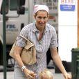 Kelly Rutherford et son fils Hermes à New York, le 29 août 2008.