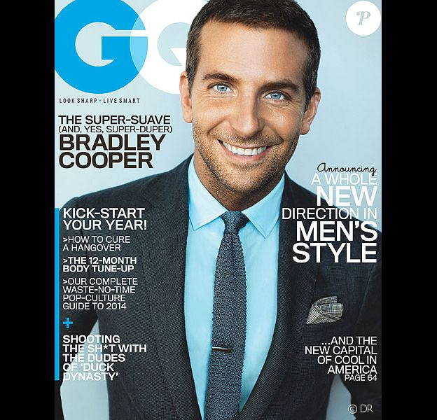Bradley Cooper en couverture du magazine GQ édition américaine (janvier 2014)