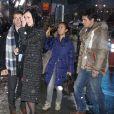 """Katy Perry et John Mayer arrivent aux studios de l'émission """"Good Morning America"""", malgré la neige à New York. Le 17 decembre 2013."""