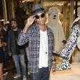 Pharrell Williams lors du lancement de sa collection pour Moncler à Paris, le 26 septembre 2013.