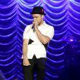 Justin Timberlake, ultra élégant en chemise Neil Barrett et souliers Christian Louboutin (modèle Gareth Zip) lors du festival Rock in Rio. Rio de Janerio, le 15 septembre 2013.