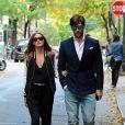 Olivia Palermo et Johannes Huebl se promènent à New York. Le 2 novembre 2013.
