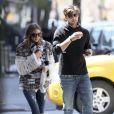 Olivia Palermo et son petit ami Johannes Huebl à New York, le 14 avril 2013.