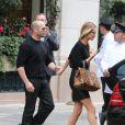 Jason Statham et Rosie Huntington-Whiteley à Paris, le 26 septembre 2013.