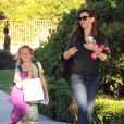 Jennifer Garner et sa fille Violet à la sortie de l'école a Santa Monica, le 20 décembre 2013.