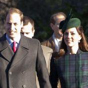 Kate Middleton et William à la messe de Noël sans le petit George, très occupé...