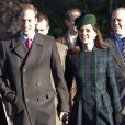 Le prince William et Kate Middleton à la messe de Noël à l'église St Mary Magdalene à Sandringham, le 25 décembre 2013.