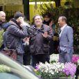 Exclusif - Le tournage de la suite des Trois Frères à Paris le 30 mai 2013, avec Didier Bourdon et Pascal Legitimus