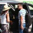 Jessica Alba et son mari Cash Warren à Los Cabos au Mexique, le 28 décembre 2013.