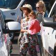 Jessica Alba et son mari Cash Warren avec leurs filles Haven et Honor à Los Cabos au Mexique, le 28 décembre 2013.