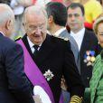 La reine Paola de Belgique et le roi Albert II le 21 juillet 2013 lors de la Fête nationale