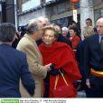 Le roi Albert II et la reine Paola de Belgique à Jodoigne, le 28 mars 2000.