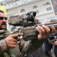 Steven Seagal lors du salon des armes et de la chasse de Moscou le 11 ocotbre 2013