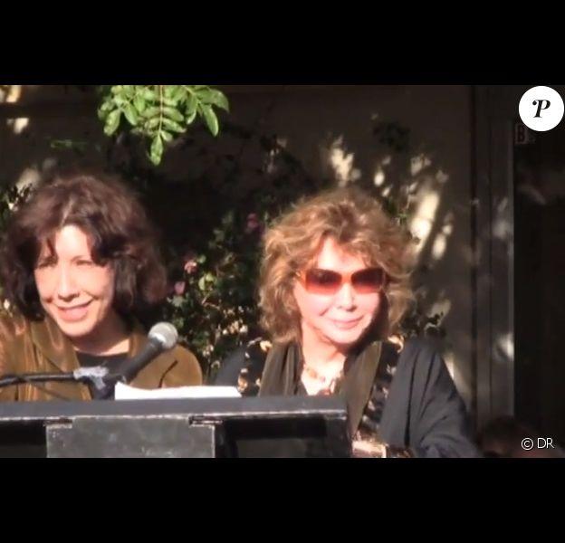 Lily Tomlin et Jane Wagner reçevant leur étoile sur le Walk of Fame de Palm Spring, mars 2012. Après 42 ans de vie commune, le couple s'est marié le 31 décembre dernier.
