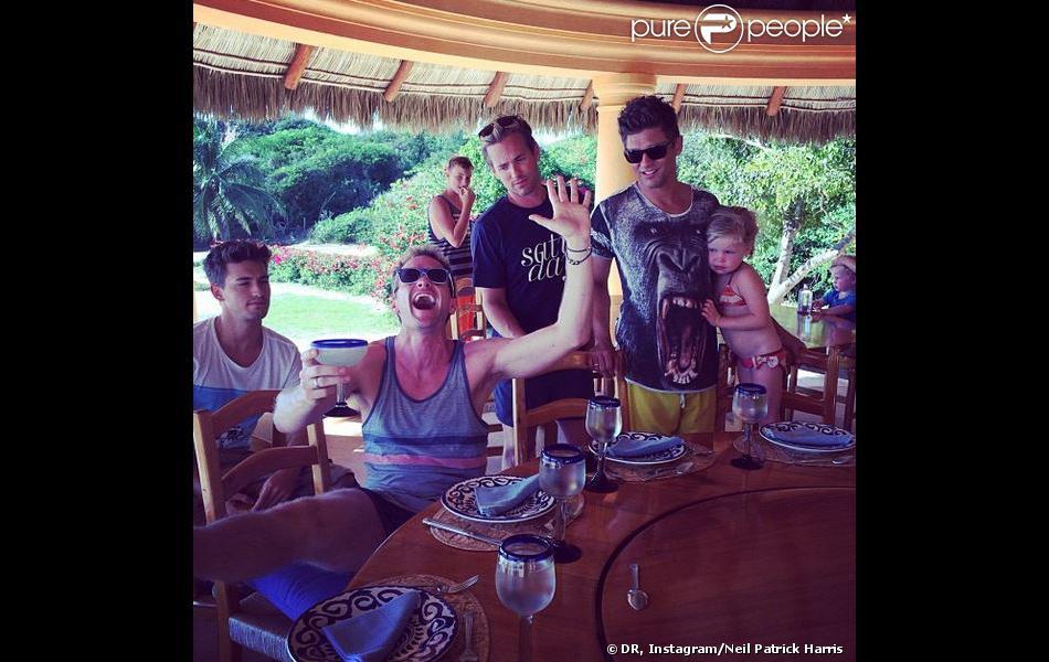 Neil Patrick Harris à son 12e verre, au Mexique, le 7 janvier 2014.