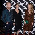 """Ben Foster, Robin Wright et sa fille, Dylan Penn, au vernissage de l'exposition """"Journey of a Dress"""" consacrée à la créatrice Diane Von Furstenberg, à Los Angeles le 10 janvier 2014."""