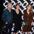 """Ben Foster, sa fiancée Robin Wright et Dylan Penn, au vernissage de l'exposition """"Journey of a Dress"""" consacrée à la créatrice Diane Von Furstenberg, à Los Angeles le 10 janvier 2014."""