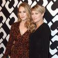 """Robin Wright et sa fille Dylan Penn au vernissage de l'exposition """"Journey of a Dress"""" consacrée à la créatrice Diane Von Furstenberg, à Los Angeles le 10 janvier 2014."""