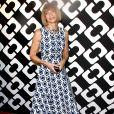 """Anna Wintour au vernissage de l'exposition """"Journey of a Dress"""" consacrée à la créatrice Diane Von Furstenberg, à Los Angeles le 10 janvier 2014."""