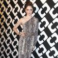 """Coco Rocha au vernissage de l'exposition """"Journey of a Dress"""" consacrée à la créatrice Diane Von Furstenberg, à Los Angeles le 10 janvier 2014."""