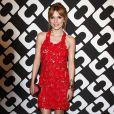 """Bella Thorne au vernissage de l'exposition """"Journey of a Dress"""" consacrée à la créatrice Diane Von Furstenberg, à Los Angeles le 10 janvier 2014."""