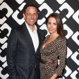 """Seth Myers et son épouse au vernissage de l'exposition """"Journey of a Dress"""" consacrée à la créatrice Diane Von Furstenberg, à Los Angeles le 10 janvier 2014."""