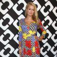 """Paris Hilton au vernissage de l'exposition """"Journey of a Dress"""" consacrée à la créatrice Diane Von Furstenberg, à Los Angeles le 10 janvier 2014."""