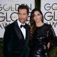 Matthew McConaughey et Camila Alves lors des Golden Globes à Beverly Hills, Los Angeles, le 12 janvier 2014.