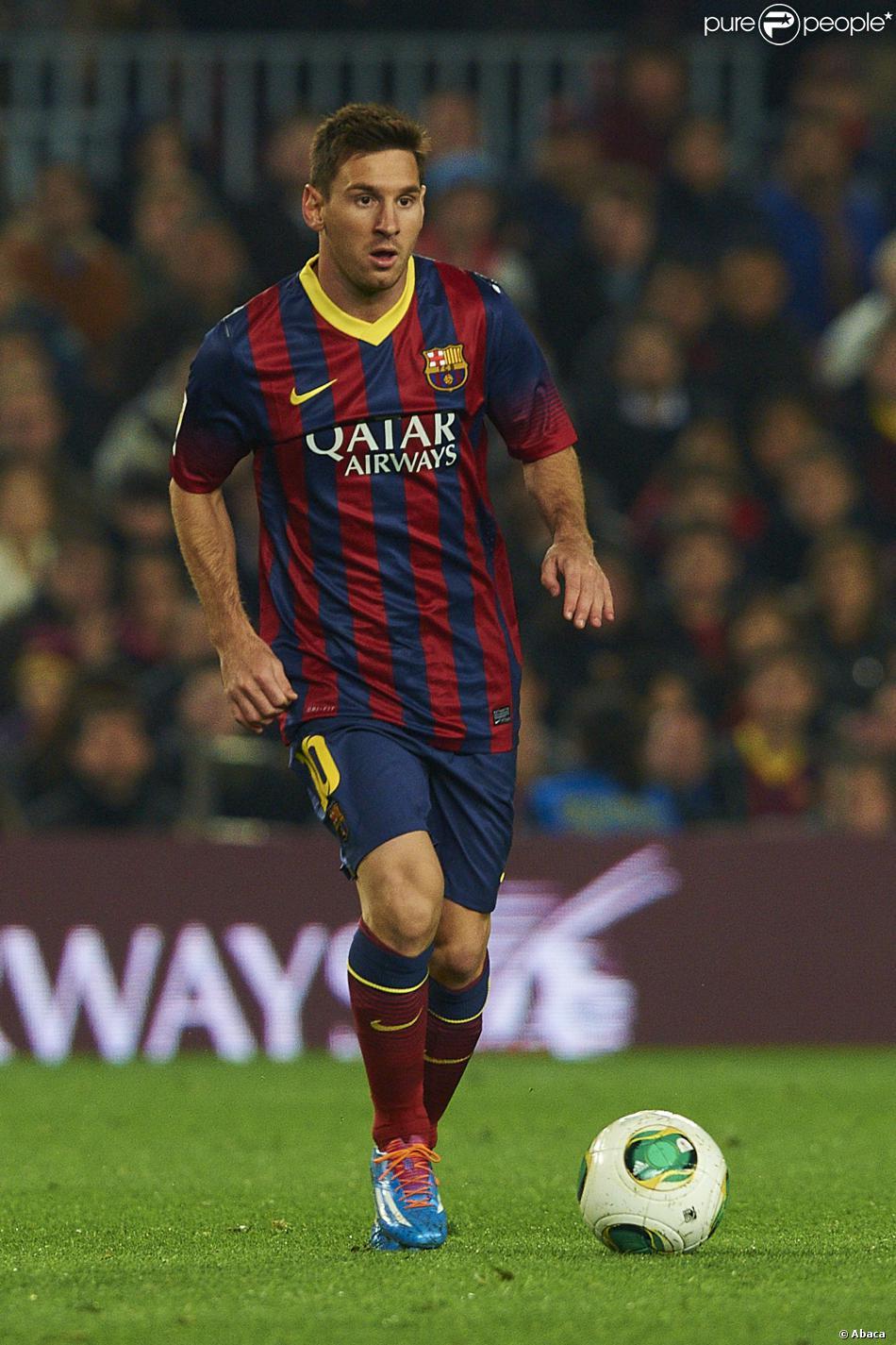 Lionel Messi à Barcelona le 8 janvier 2014.