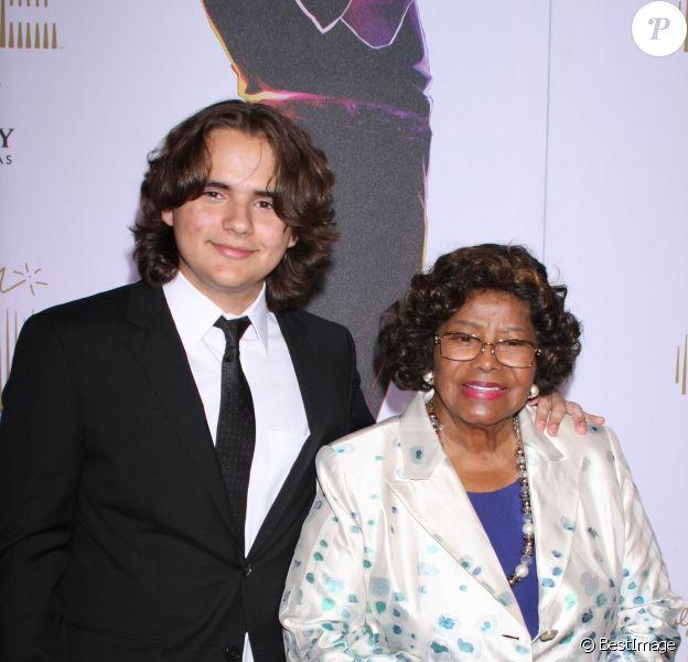 Prince Jackson et sa grand-mère Katherine Jackson à Las Vegas, le 30 juin 2013.