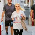 Britney Spears et son petit ami David Lucado sortent d'un studio de danse à Los Angeles, le 13 janvier 2014.