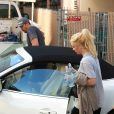 Britney Spears et son boyfriend David Lucado sortent d'un studio de danse à Santa Monica, le 13 janvier 2014.