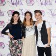 Lodovica Comello, Martina Stoessel, et Ruggero Pasquarelli, de la série Violetta, à Rome (Italie), le lundi 13 janvier 2014.