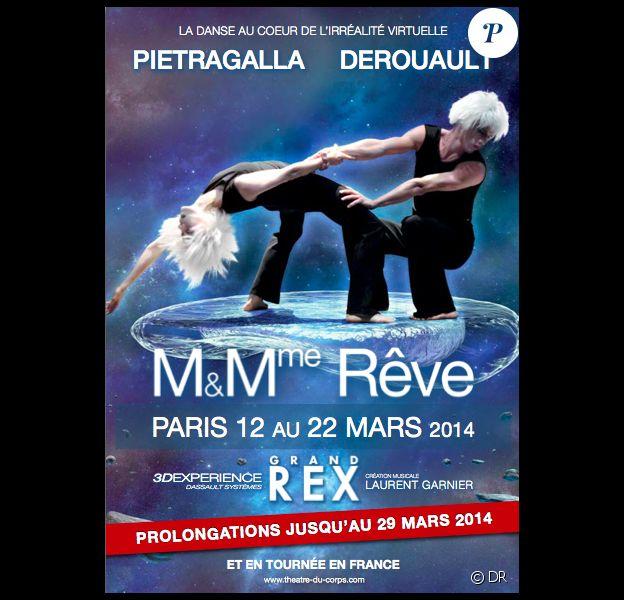 L'affiche de Mr et Mme Rêve, de la compagnie Pietragalla-Derouault.