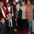 Alain Souchon, Farid Khider, Laurent Voulzy, Alice Dona, Alexandre Marcellin lors du concert ''Pascal Danel chante Gilbert Bécaud'' au Casino de Paris le 10 janvier 2014.