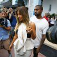 Kim Kardashian et Kanye West à Miami, le 29 novembre 2013.